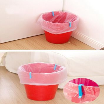 Brand New 8 PCS Universal Trash Bag Fixed Clip Waste Basket Rubbish Bin Garbage Can Clamp