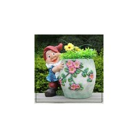 Sintechno Inc Cute Gnome Hugs Flower Novelty Pot Planter
