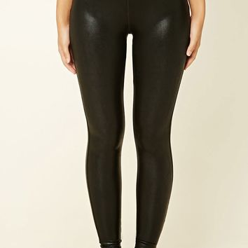 Active Faux Leather Leggings