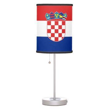Patriotic table lamp with Flag of Croatia