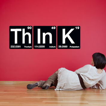 Th In K - Think Periodic Table of Elements Vinyl Decals