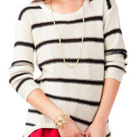 Quinn Striped Scoop Neck Sweater