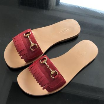 Gucci  Women Fashion Simple Casual Slipper Shoes