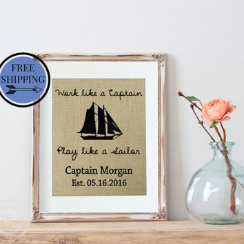 Personalized Father's Day Gift | Gift for Husband | Gift for Dad  | Gift for Him | Father's Day Gift Ideas | Work Like a Captain | Dad Gift