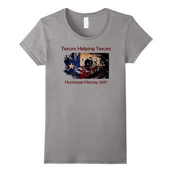 """Texans Helping Texans"" Hurricane Harvey Flag Pride T-shirt"