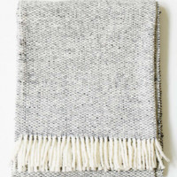 Tweed Emphasize Throw - Charcoal Grey/Natural