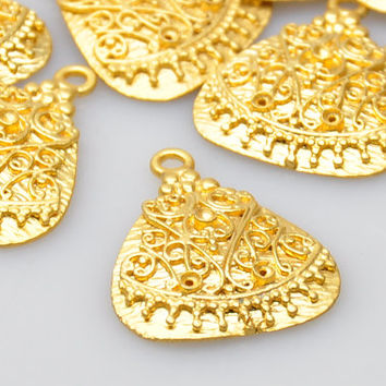 1 Piece Gold Plated Chic Pendant, Jewelry Findings, Jewelry Making Supply