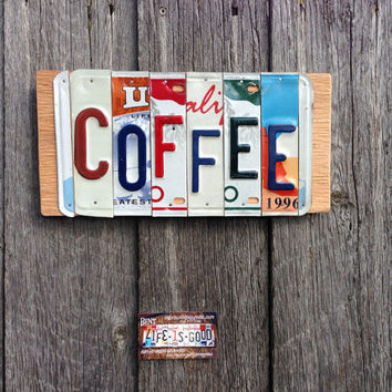 Recycled. License plate. Sign. License plate art. Custom name. Personalized . Family name. Room decor. Wall hanging. Garage sign.