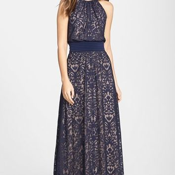 Women's Maggy London Lace Halter Maxi Dress