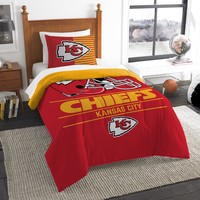 "Chiefs OFFICIAL National Football League, Bedding, """"Draft"""" Printed Twin Comforter (64""""x 86"""") & 1 Sham (24""""x 30"""") Set  by The Northwest Company"