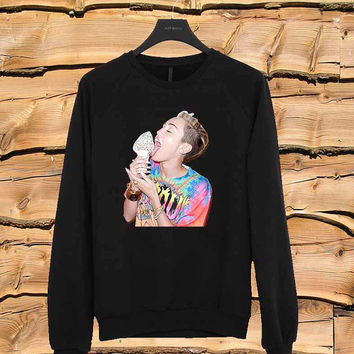 Miley Cyrus Ice Cream sweater Sweatshirt Crewneck Men or Women Unisex Size