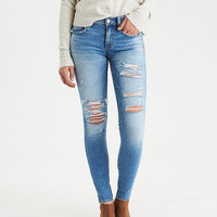 AEO Denim X Jegging, Indigo Skylight Destroy