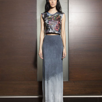 Maxi Skirt, Ombre Hand Dyed