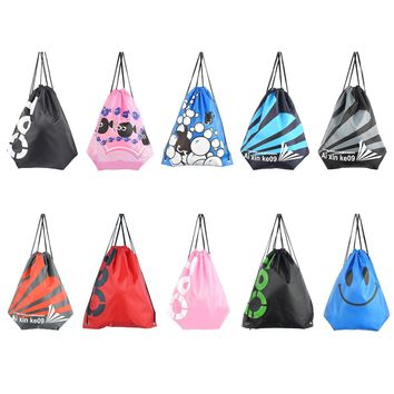 Pro 10 Colors Portable Waterproof Double Layer Swimming Backpack Drawstring Sport Bag Shoulder Bag Water Sports Travel Bag