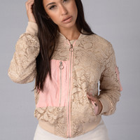 Love Lace Jacket - Khaki
