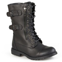Journee Collection Cedes Combat Boots - Women
