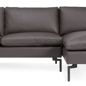 New Standard Leather Sofa with Right Arm Chaise