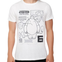 Disney Big Hero 6 Baymax Schematic T-Shirt 2XL