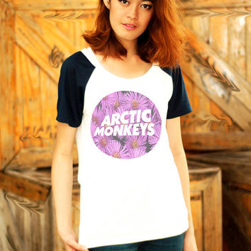 Arctic Monkeys Shirt Music T Shirts Rock Band Tee Clothing Women Top Raglan Shirts Screenprinted