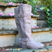 SZ 6 Saddle Creek Beige Boots