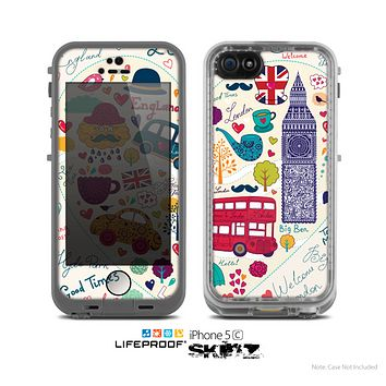 The Vector London Sketchbook Collage Skin for the Apple iPhone 5c LifeProof Case