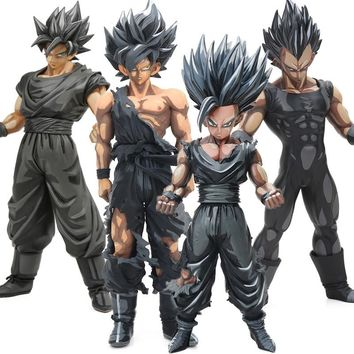 MSP Chocolate Ver Black Son Gohan Goku Vegeta PVC Action Figure Master Star Piece Dragon Ball Z Figurine Collectible Model Dolls