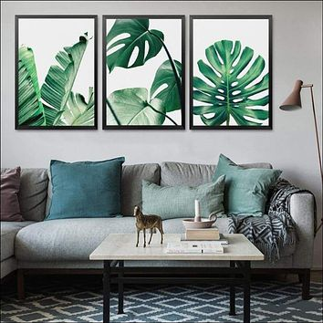 Green Leaf, Botanic Canvas Wall Picture