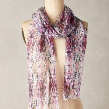Frana Silk Scarf by Anthropologie in Purple Size: One Size Scarves