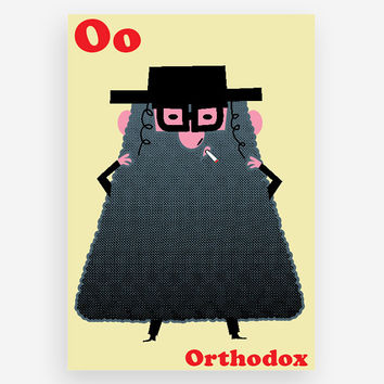 O is for Orthodox Print