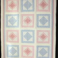 Quilts - Patchwork Pink and Blue