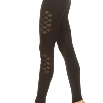 Mesh Nylon Workout Pants - Activewear - RWL SPORT - Ruffles with Love
