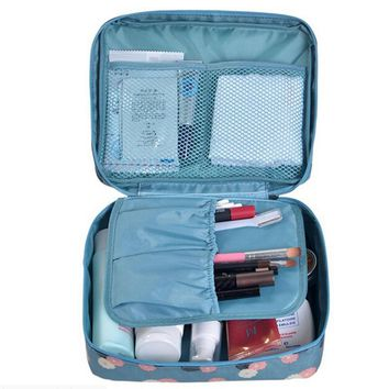 Women fashion Travel Nylon beauty makeup bags water-proof cosmetics bags bathroom organizer of portable bath hook washing up bag