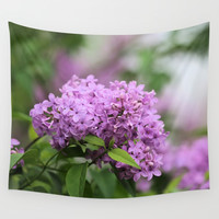 Lilac Bouquets Wall Tapestry by Theresa Campbell D'August Art