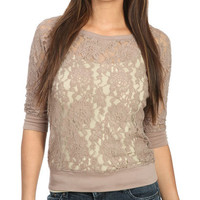 Sheer Lace Pullover | Shop Tops at Wet Seal