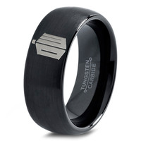 Doctor Who Ring Time Lord Design Ring Mens Fanatic Geek Sci Fi Science Fiction Boys Girl Womens Doctor Who Time Lord Fathers Day Gift Tungsten Carbide 56