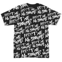 ALL SINNERS BLACK TEE