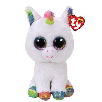 """Ty Beanie Boos Stuffed & Plush Animals Colorful White Unicorn Toy Doll With Tag 6"""" 15cm"""