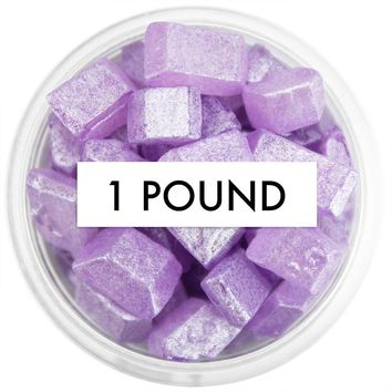 Pearly Purple Square Gem Sugar 1 LB