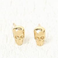 Ettika Skull Stud Earring Set - Womens Jewelry - Gold - One