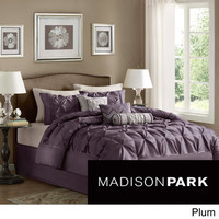 Madison Park Vivian Polyester Solid Tufted 7-piece Comforter Set | Overstock.com