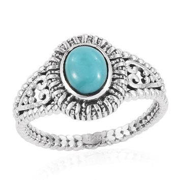 Turquoise Sterling Silver Solitaire Ring