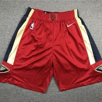 New Orleans Pelicans Red NBA Basketball Swingman Shorts - Best Deal Online