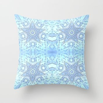Frozen Blue Stars Throw Pillow by 2sweet4words Designs