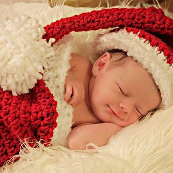 Santa Hat, Christmas Stocking, Christmas Cocoon, Christmas Baby Gifts, Baby Shower, Baby Gift, Baby Boy,  Christmas Gift,  Baby Girl