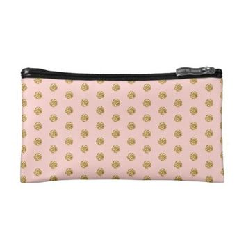 Girly Polka Dot Cosmetic Bag