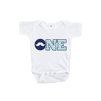 Custom Party Shop Baby Boy's ONE Mustache First Birthday Onepiece Outfit