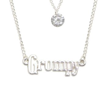 Licensed cool Disney Snow White and the Seven Dwarfs GRUMPY Layered Name Plate Necklace Set