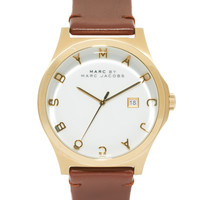 Marc By Marc Jacobs Watch Henry Brown Leather Strap MBM1213