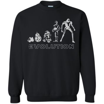 Star war t shirt - Robot Evolution Space War in the Stars Graphic Funny Parody G180 Gildan Crewneck Pullover Sweatshirt  8 oz.