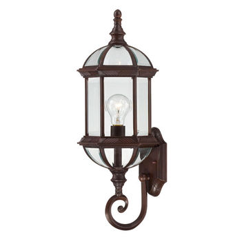 Nuvo Lighting 60/4972 Boxwood Rustic Bronze Finish One Light Outdoor Wall Sconce with Clear Beveled Glass